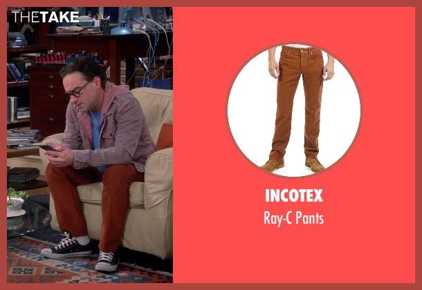Incotex orange pants from The Big Bang Theory seen with Leonard Hofstadter (Johnny Galecki)