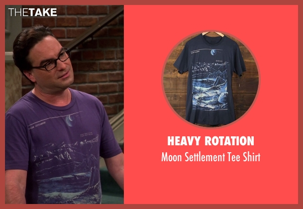 Heavy Rotation purple shirt from The Big Bang Theory seen with Leonard Hofstadter (Johnny Galecki)