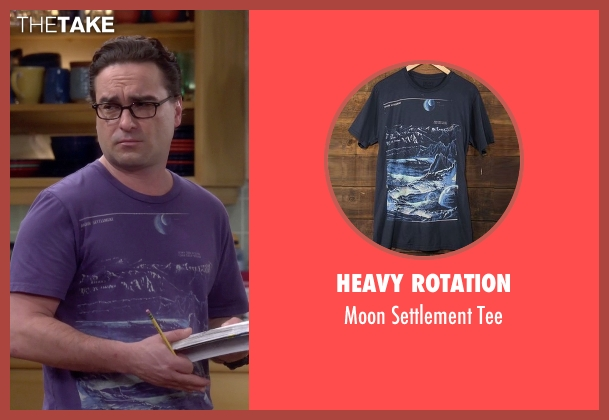 Heavy Rotation purple tee from The Big Bang Theory seen with Leonard Hofstadter (Johnny Galecki)