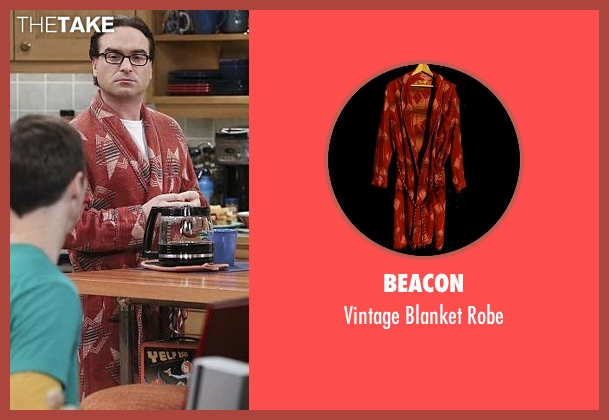 Beacon red robe from The Big Bang Theory seen with Leonard Hofstadter (Johnny Galecki)