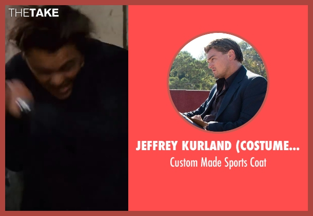 Jeffrey Kurland (Costume Designer) and Dennis Kim (Tailor) blue coat from Inception seen with Leonardo DiCaprio (Cobb)