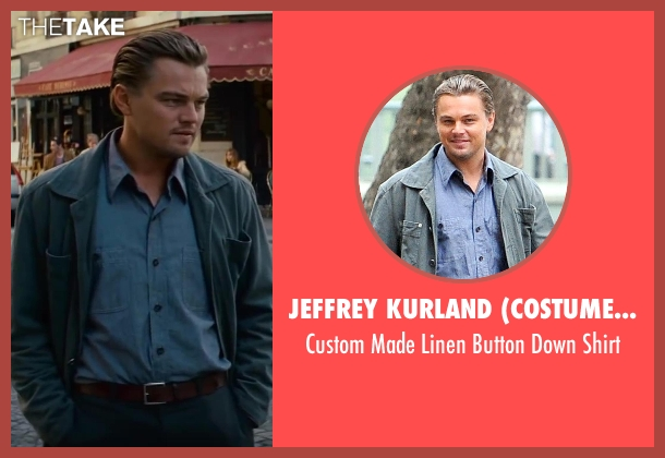Jeffrey Kurland (Costume Designer) and Anto Beverly Hills (Tailor) blue shirt from Inception seen with Leonardo DiCaprio (Cobb)