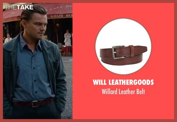 Will Leathergoods brown belt from Inception seen with Leonardo DiCaprio (Cobb)