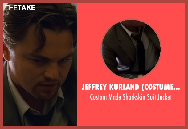 Jeffrey Kurland (Costume Designer) and Dennis Kim (Tailor) gray jacket from Inception seen with Leonardo DiCaprio (Cobb)