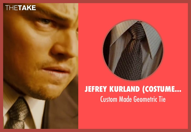 Jefrey Kurland (Costume Designer) gray tie from Inception seen with Leonardo DiCaprio (Cobb)