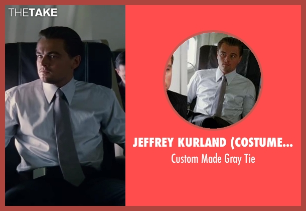 Jeffrey Kurland (Costume Designer) gray tie from Inception seen with Leonardo DiCaprio (Cobb)