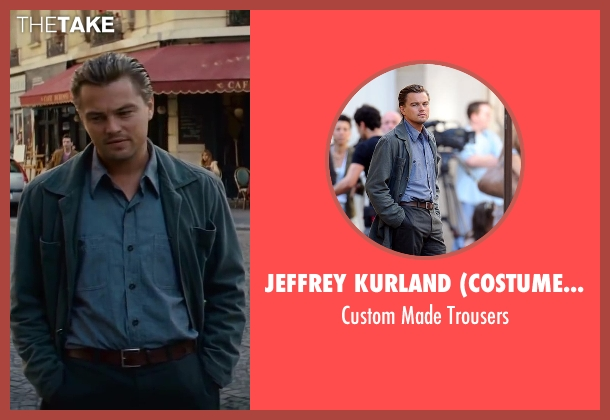 Jeffrey Kurland (Costume Designer) gray trousers from Inception seen with Leonardo DiCaprio (Cobb)