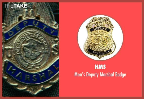 HMS badge from Shutter Island seen with Leonardo DiCaprio (Teddy Daniels)