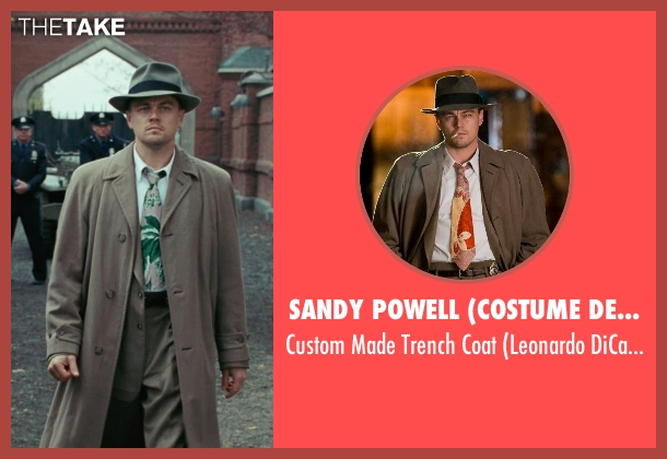 Sandy Powell (Costume Designer) beige coat from Shutter Island seen with Leonardo DiCaprio (Teddy Daniels)
