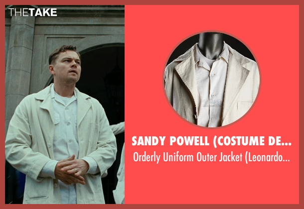 Sandy Powell (Costume Designer) beige jacket from Shutter Island seen with Leonardo DiCaprio (Teddy Daniels)