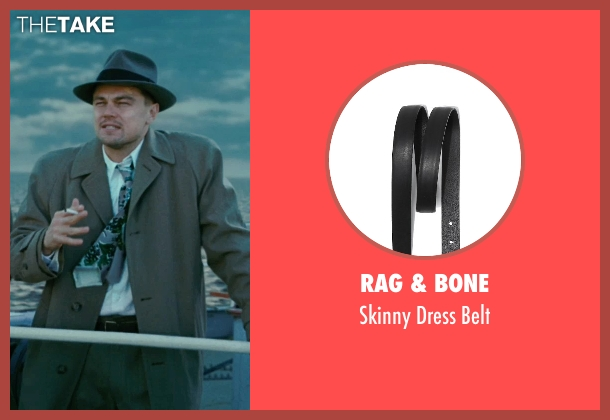 Rag & Bone black belt from Shutter Island seen with Leonardo DiCaprio (Teddy Daniels)