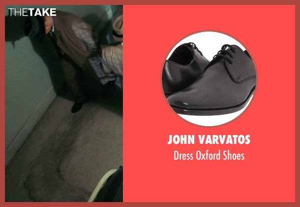 John Varvatos black shoes from Shutter Island seen with Leonardo DiCaprio (Teddy Daniels)