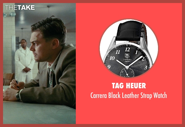 TAG Heuer black watch from Shutter Island seen with Leonardo DiCaprio (Teddy Daniels)