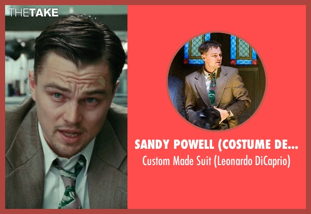 Sandy Powell (Costume Designer) brown suit from Shutter Island seen with Leonardo DiCaprio (Teddy Daniels)