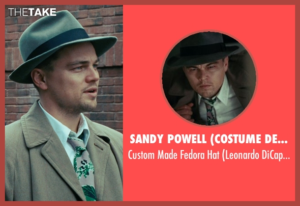 Sandy Powell (Costume Designer) gray hat from Shutter Island seen with Leonardo DiCaprio (Teddy Daniels)