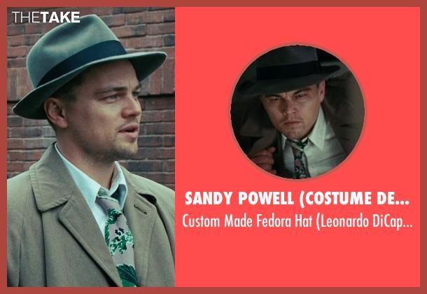 Sandy Powell (Costume Designer) gray hat from Shutter Island seen with Leonardo DiCaprio (Teddy Daniels)