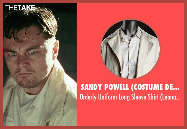 Sandy Powell (Costume Designer) white shirt from Shutter Island seen with Leonardo DiCaprio (Teddy Daniels)