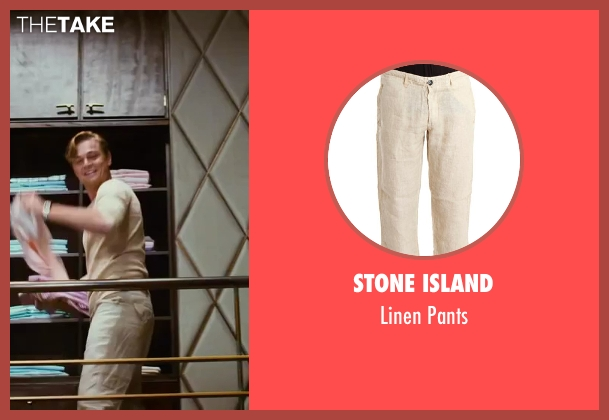 Stone Island beige pants from The Great Gatsby seen with Leonardo DiCaprio (Jay Gatsby)