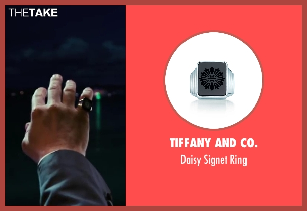 Tiffany and Co. black ring from The Great Gatsby seen with Leonardo DiCaprio (Jay Gatsby)