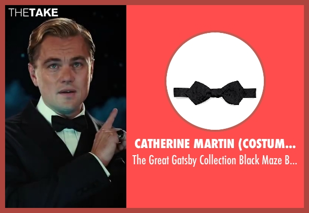 Catherine Martin (Costume Designer) and Brooks Brothers (Tailor) black tie from The Great Gatsby seen with Leonardo DiCaprio (Jay Gatsby)