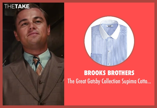 Brooks Brothers blue shirt from The Great Gatsby seen with Leonardo DiCaprio (Jay Gatsby)