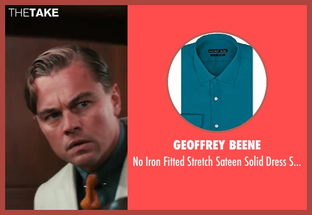 Geoffrey Beene blue shirt from The Great Gatsby seen with Leonardo DiCaprio (Jay Gatsby)