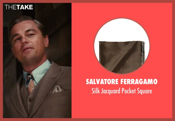 Salvatore Ferragamo brown square from The Great Gatsby seen with Leonardo DiCaprio (Jay Gatsby)