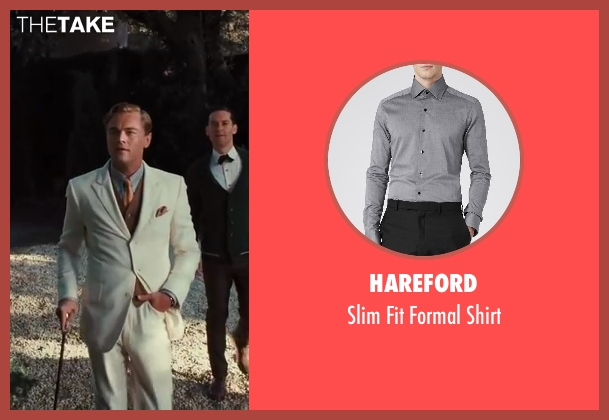 Hareford gray shirt from The Great Gatsby seen with Leonardo DiCaprio (Jay Gatsby)