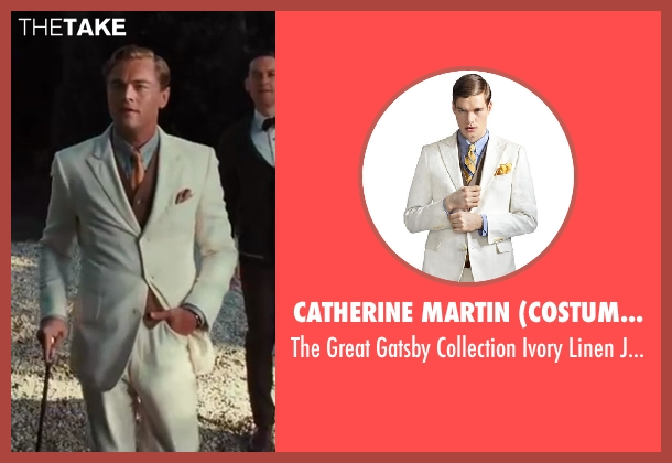 Catherine Martin (Costume Designer) and Brooks Brothers (Tailor) jacket from The Great Gatsby seen with Leonardo DiCaprio (Jay Gatsby)