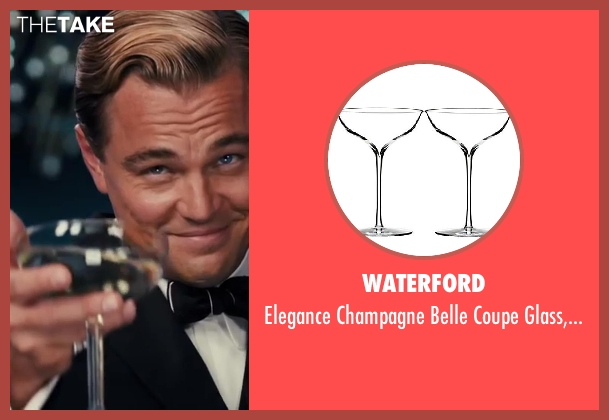 Waterford pair from The Great Gatsby seen with Leonardo DiCaprio (Jay Gatsby)
