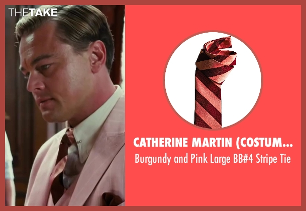 Catherine Martin (Costume Designer) and Brooks Brothers (Tailor) red tie from The Great Gatsby seen with Leonardo DiCaprio (Jay Gatsby)