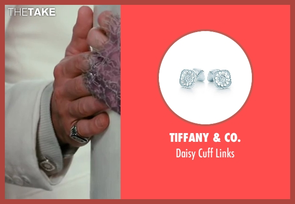 Tiffany & Co. silver links from The Great Gatsby seen with Leonardo DiCaprio (Jay Gatsby)