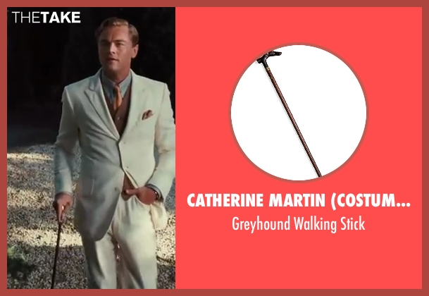 Catherine Martin (Costume Designer) and Brooks Brothers (Tailor) stick from The Great Gatsby seen with Leonardo DiCaprio (Jay Gatsby)