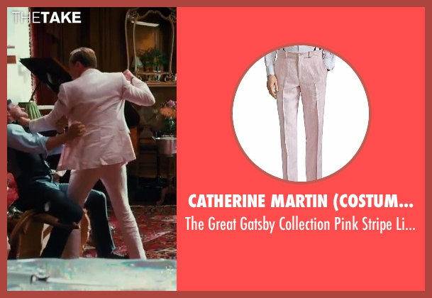 Catherine Martin (Costume Designer) and Brooks Brothers (Tailor) trousers from The Great Gatsby seen with Leonardo DiCaprio (Jay Gatsby)