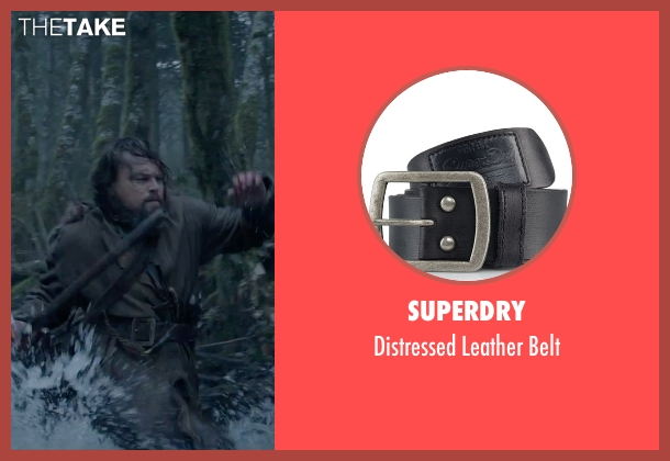 Superdry black belt from The Revenant seen with Leonardo DiCaprio (Hugh Glass)