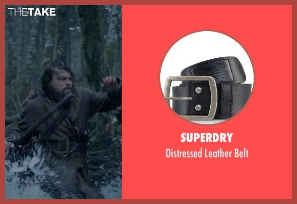 Superdry black belt from The Revenant seen with Leonardo DiCaprio (Hugh Glass)