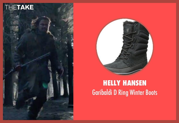 Helly Hansen black boots from The Revenant seen with Leonardo DiCaprio (Hugh Glass)