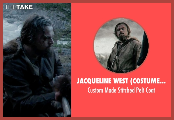 Jacqueline West (Costume Designer) black coat from The Revenant seen with Leonardo DiCaprio (Hugh Glass)