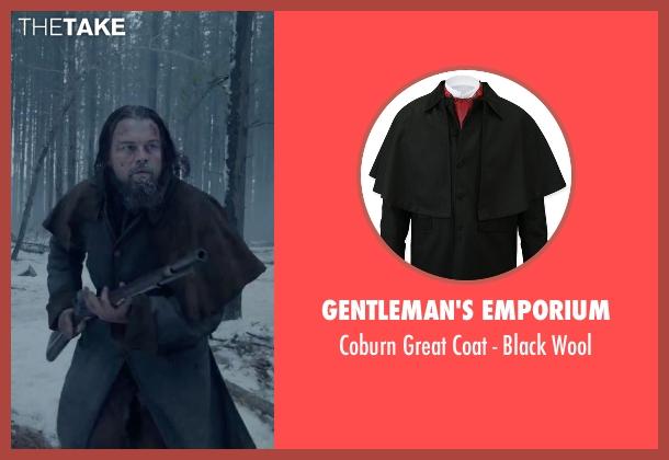Gentleman's Emporium black wool from The Revenant seen with Leonardo DiCaprio (Hugh Glass)