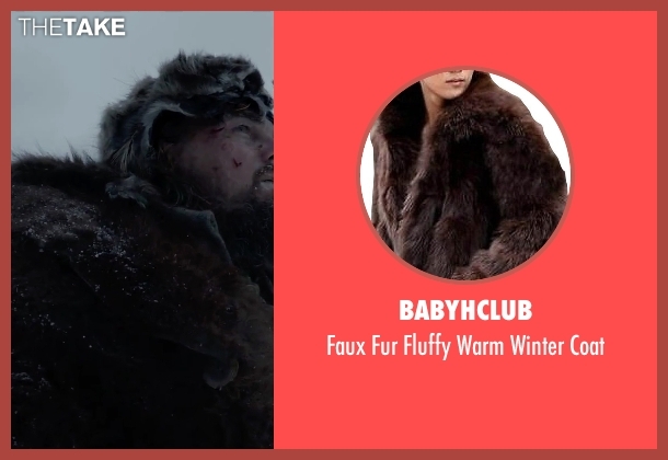 Babyhclub brown coat from The Revenant seen with Leonardo DiCaprio (Hugh Glass)