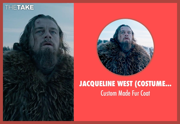Jacqueline West (Costume Designer) brown coat from The Revenant seen with Leonardo DiCaprio (Hugh Glass)