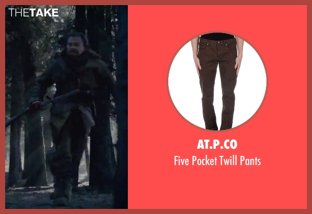 AT.P.CO brown pants from The Revenant seen with Leonardo DiCaprio (Hugh Glass)