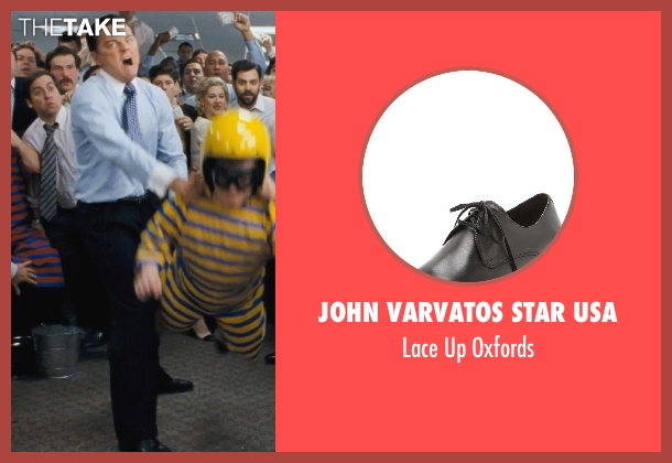 John Varvatos Star USA black oxfords from The Wolf of Wall Street seen with Leonardo DiCaprio (Jordan Belfort)