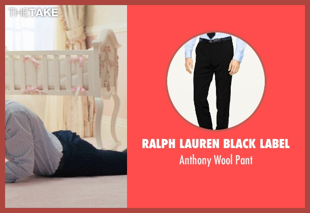 RALPH LAUREN BLACK LABEL black pant from The Wolf of Wall Street seen with Leonardo DiCaprio (Jordan Belfort)