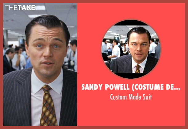 Sandy Powell (Costume Designer) and Leonard Logsdail (Tailor) black suit from The Wolf of Wall Street seen with Leonardo DiCaprio (Jordan Belfort)