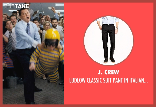 J. Crew black wool from The Wolf of Wall Street seen with Leonardo DiCaprio (Jordan Belfort)