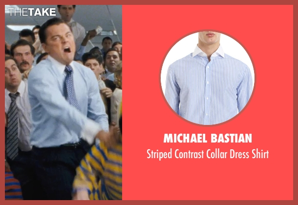 MICHAEL BASTIAN blue shirt from The Wolf of Wall Street seen with Leonardo DiCaprio (Jordan Belfort)