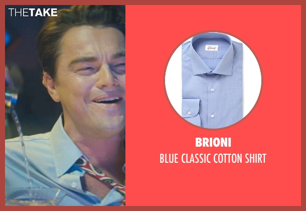 BRIONI blue shirt from The Wolf of Wall Street seen with Leonardo DiCaprio (Jordan Belfort)