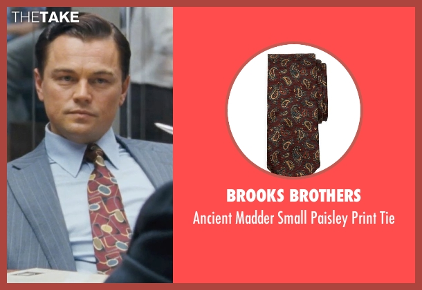 Brooks Brothers brown tie from The Wolf of Wall Street seen with Leonardo DiCaprio (Jordan Belfort)