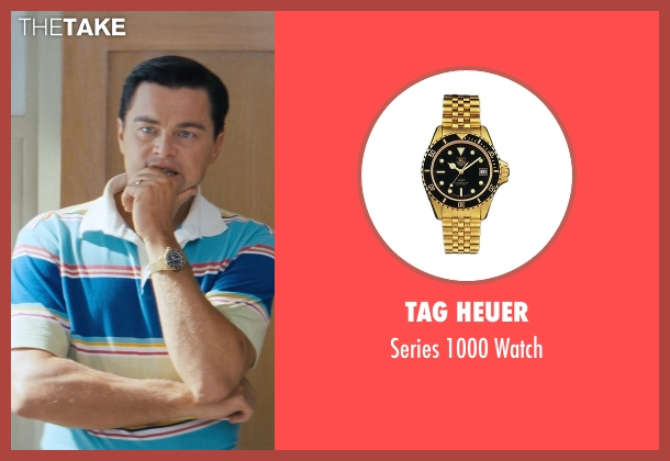 Tag Heuer gold watch from The Wolf of Wall Street seen with Leonardo DiCaprio (Jordan Belfort)